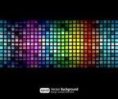 Black business abstract background with color gradients — Stock vektor