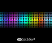 Black party abstract background with color gradients — Stock Vector