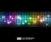 Zwarte partij abstracte achtergrond met kleurovergangen 2 — Stockvector