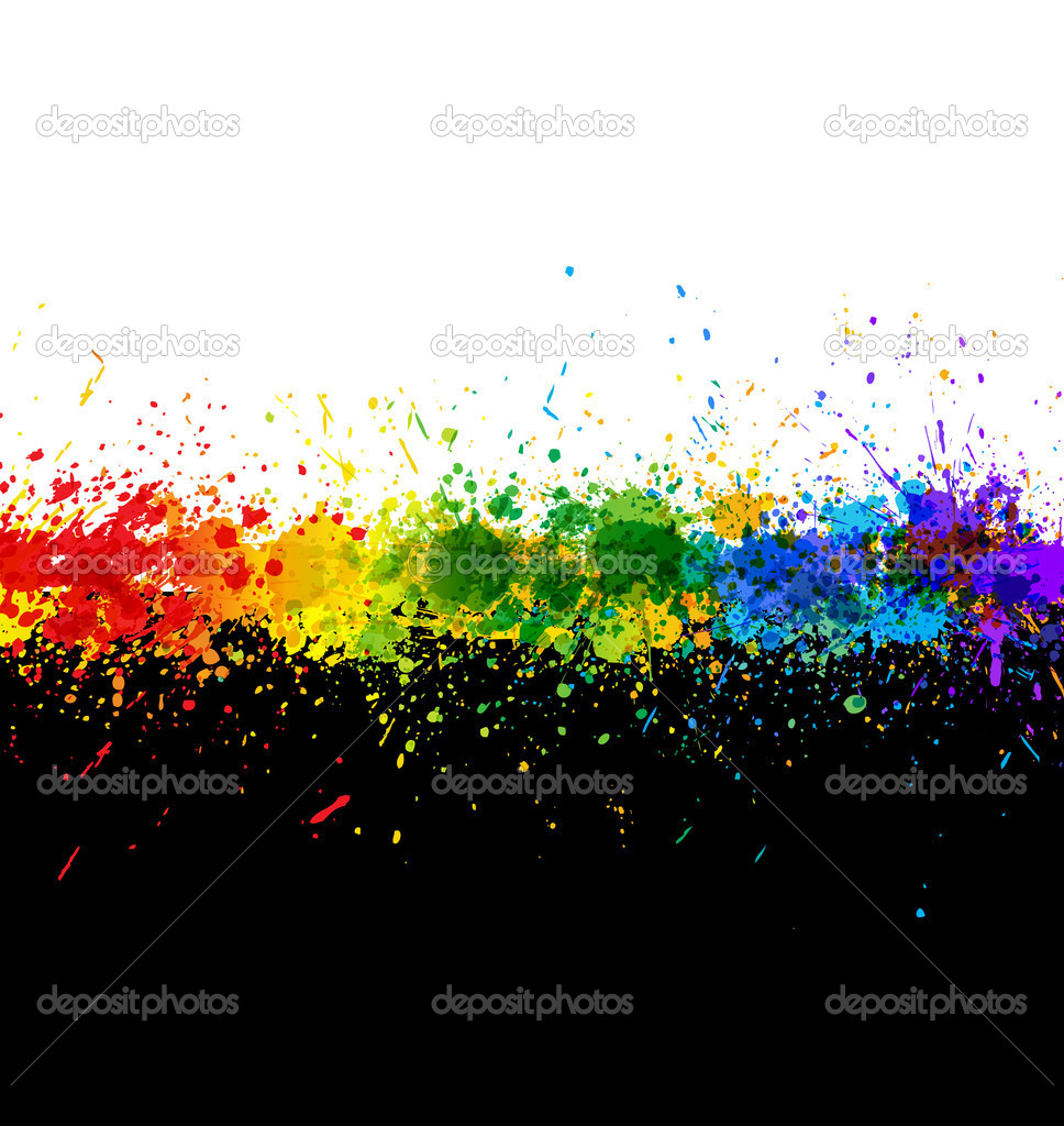 Color paint splashes. Gradient vector background. Artwork template. — Stock Vector #4663353