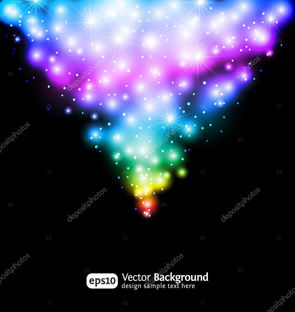 Winter snow and star background. Eps 10 color gradient background. — Stock Vector #4663699
