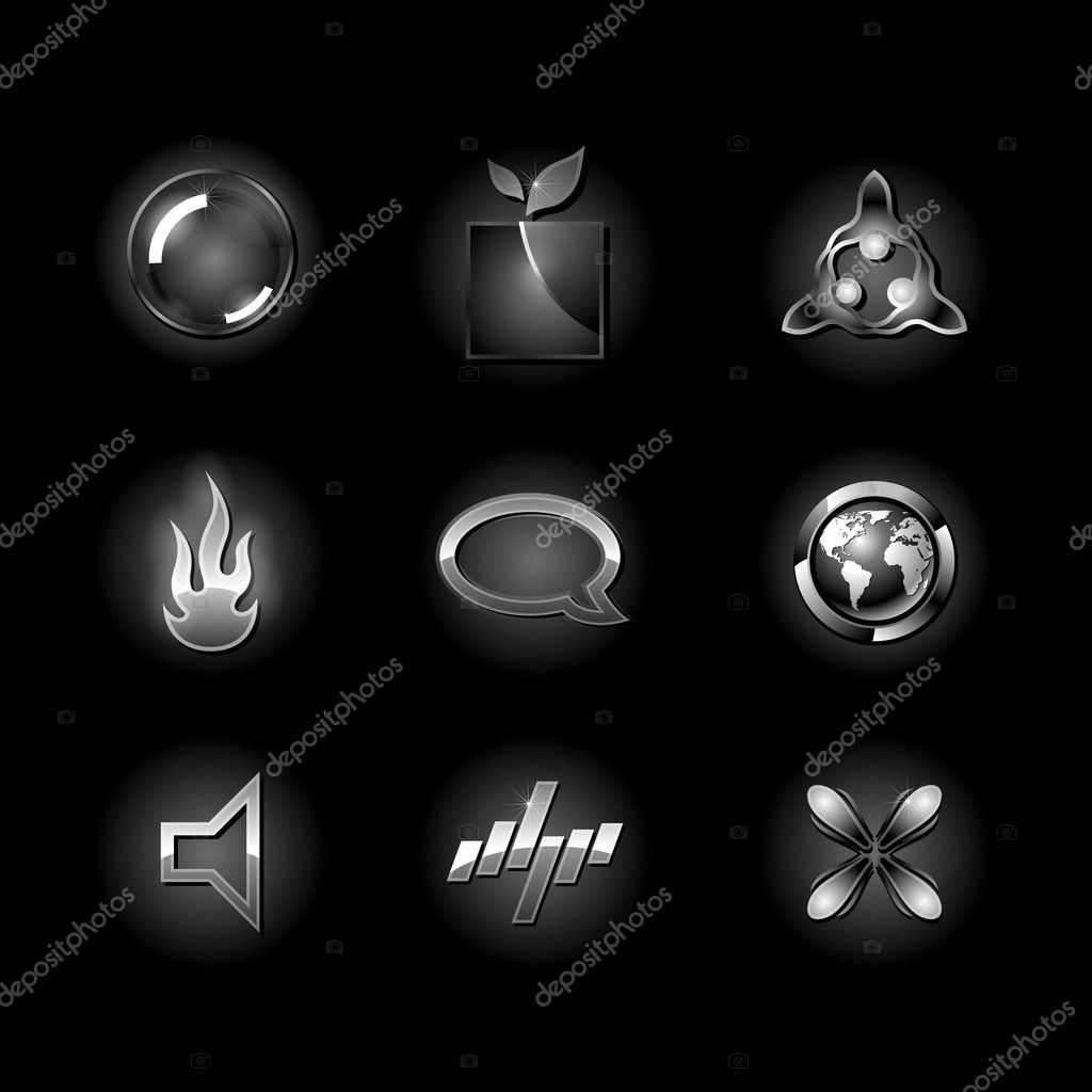 Black design elements. Clean style of concept business symbol. — Stock Vector #4663713