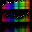 Royalty-Free Stock Vector Image: Vector digital gradient equalizer