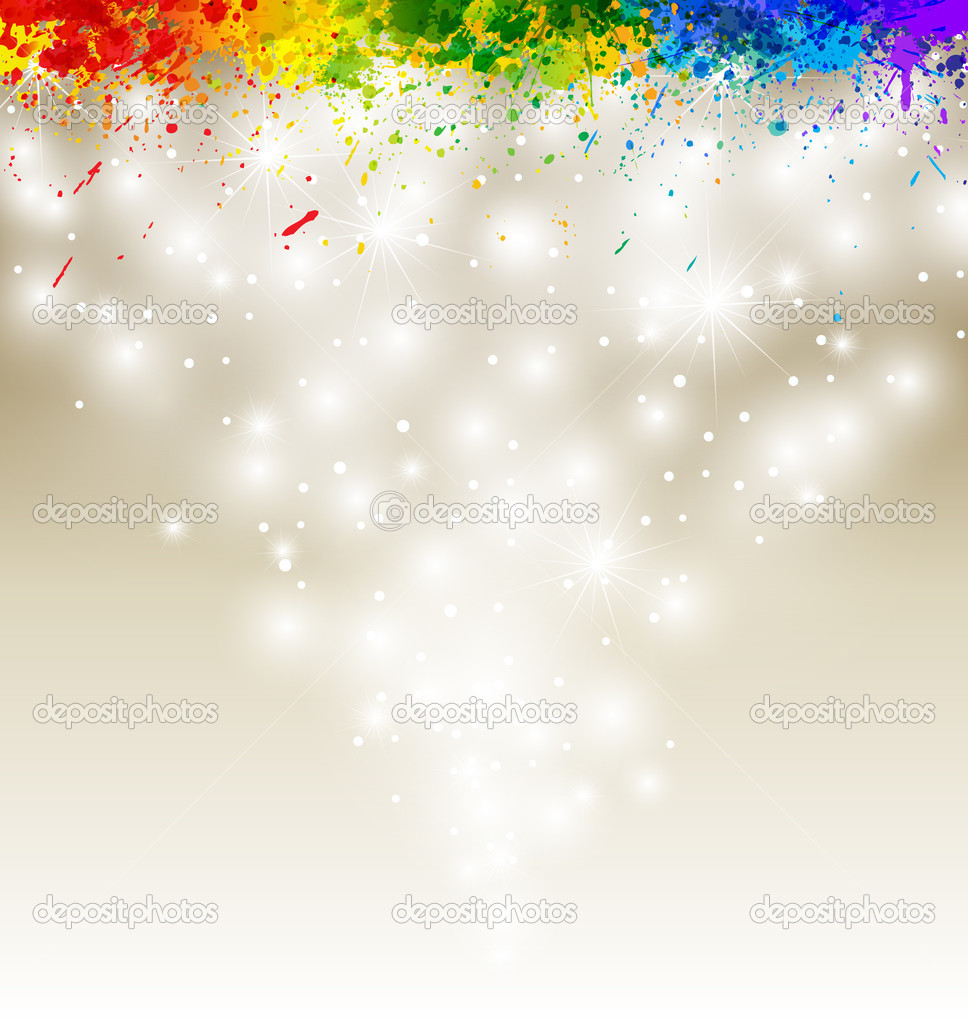 Color paint splashes artwork. Snow vector background eps10. — Stock Vector #4824810