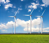 Power generating windmills — 图库照片