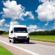 Stock Photo: White delivery van