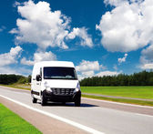 White delivery van — Stock Photo