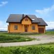 New house in country landscape — Foto de Stock