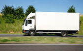 White truck speed — Stockfoto