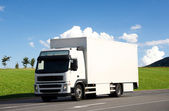 Blank white truck — Stock Photo