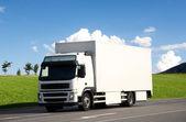 Blank white truck — Stock Photo