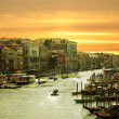 Venice,Sunset on the canal grande - Stock Photo