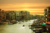 Venice,Sunset on the canal grande — Stock Photo