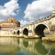 Bridge and Castle Sant Angelo - Stock Photo