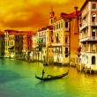 Amazing Venice  - artistic toned picture — Stock Photo