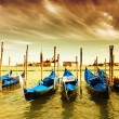 Gondola Parking, Venice - Stock Photo