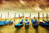 Gondola Parking, Venice — Stock Photo