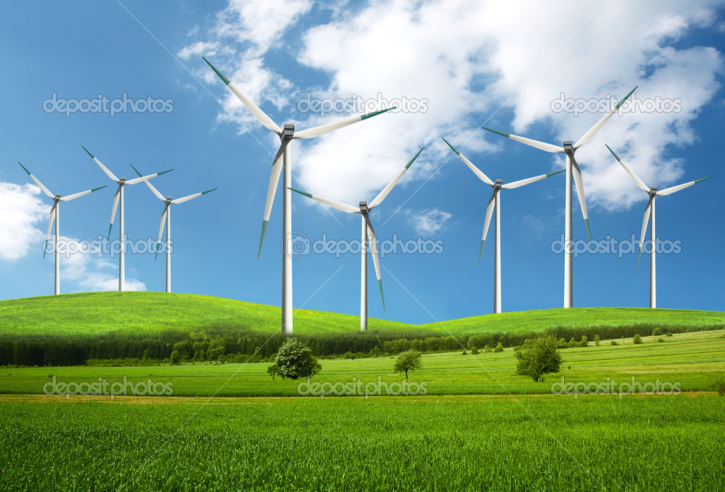 Eco energy,Green natural environment  Stock Photo #4702749