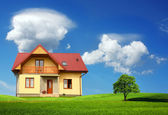 New single family home — Stock Photo