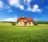 New rural house — Stock Photo