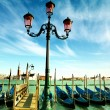 Gondolas on Grand Canal , Venice. — Stok fotoğraf
