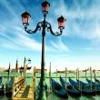 gôndolas no grande canal, Veneza — Foto Stock