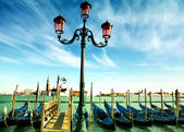 Gondoles sur le grand canal, venise. — Photo