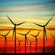 Wind turbines at sunset — Stock Photo #4925451