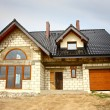 A newly constructed house — Stock Photo
