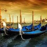 Gondola Parking, Venice -Italy — Stock Photo