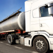 Fuel tanker truck - Stock Photo