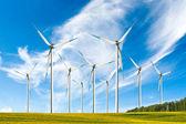 Power wind energy turbines — Stock Photo