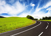 Curve road on mountain — Stock Photo