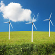 Windturbines, alternative energy - Stock Photo