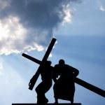 Jesus Christ and Cross — Stock Photo