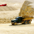 Truck transporting dolomite stone - Foto Stock