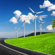 Stock Photo: Fast road to ecological environment