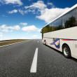 viaggio in autobus — Foto Stock