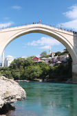 Mostar with the famous bridge — Stock Photo