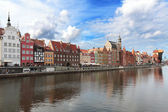 Old harbour in Gdansk — Stock Photo