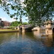 River park in York, UK - Stock Photo