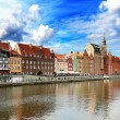 Gdansk panorama - Stock Photo