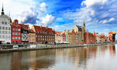 Gdansk panorama — Stock Photo