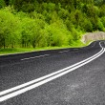 Empty mountain road — Stock Photo
