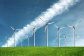 Windmills on the sky — Stock Photo