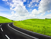 A winding mountain road — Stock Photo