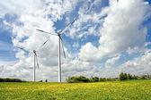 Cloudy Eco Power — Stock Photo