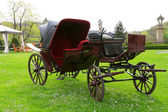Antique carriage in the park — Stock Photo