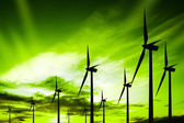 Green ecology wind — Stock fotografie
