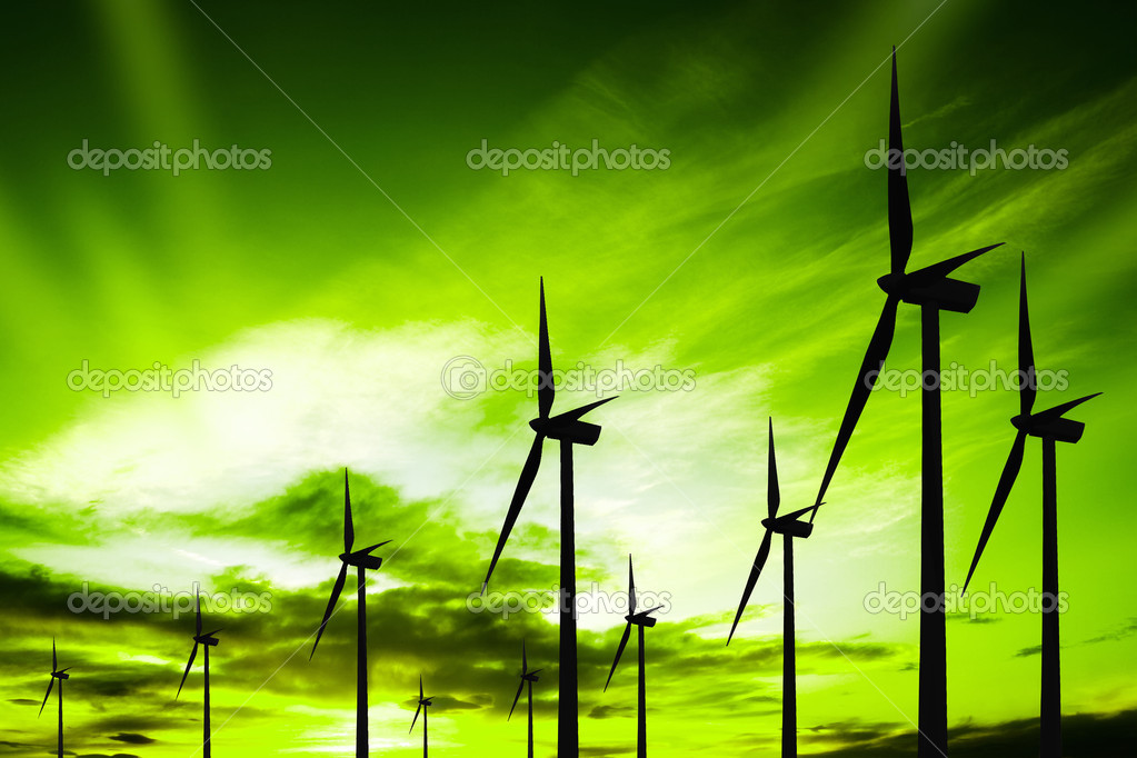 Green ecology wind — Stock Photo #4628931
